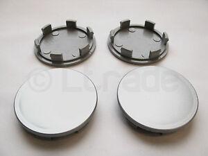 4x-Nabenkappen-Felgendeckel-Nabendeckel-60mm-54mm-Silber-Felgenkappen-NEU