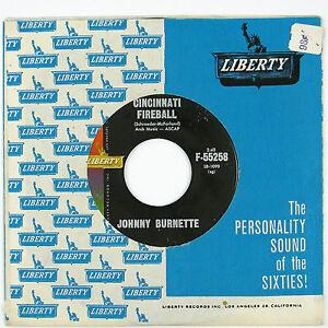 JOHNNY-BURNETTE-Cincinnati-Fireball-Dreamin-039-7IN-1960-ROCKABILLY-VG