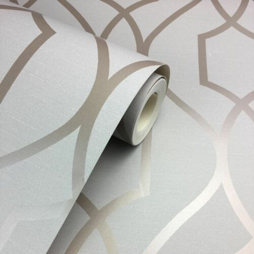 Fine Decor Apex Geometric Metallic Wallpaper Trellis 10m 4 Colours