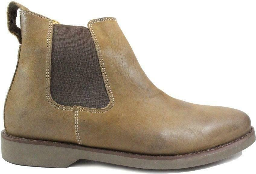 Anatomic Cardoso Grey Vintage Leather Mens Pull On Chelsea Boots