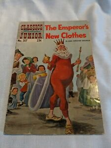 Vintage-Comic-Classics-Illustrated-Junior-no-517-The-Emperor-039-s-New-Clothes-1955