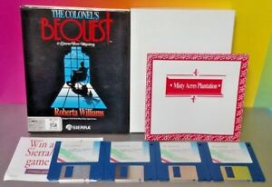 The-Colonel-039-s-Bequest-Computer-Game-3-5-034-Disks-MS-DOS-EGA-Tandy-PC-Big-Box-Rare
