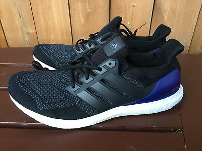 hot sale online e68bb ee7ac Adidas Ultra Boost OG 1.0 black blue men's shoes sneakers G28319 multiple  sizes | eBay
