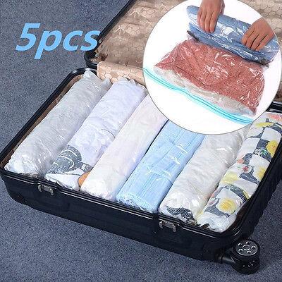 Travel Space Saver Bags Vacuum Storage Bag for Clothes,Compression Bags 1//5pcs