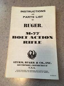 vintage original ruger m77 owners manual dated 1974 ebay rh ebay com ruger m77 tang safety owner's manual ruger m77 tang safety owner's manual