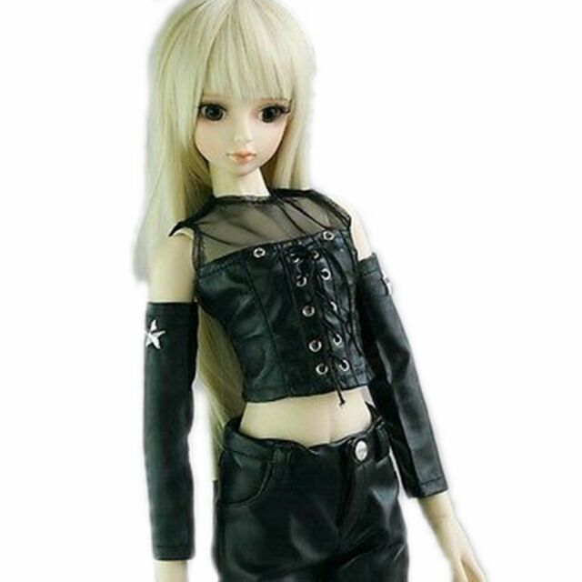 1/3 BJD Doll Clothes Collared Sweater & Plaid Skirt Suit