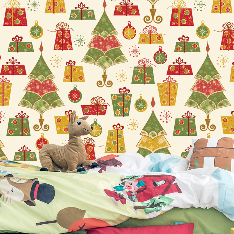 3D Weihnachten viele Geschenke 266 Fototapeten Wandbild BildTapete Familie DE