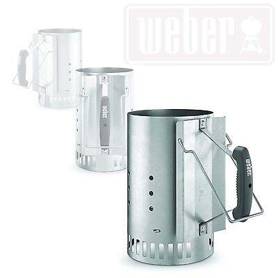 Bbq Starter Weber.Charcoal Chimney Starter Weber Bbq Camping Lighter Steel Compact Grill Accessory 746278541271 Ebay