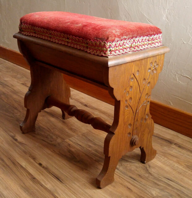 Concord Miniatures Victorian Window Seat Bench Red Velvet