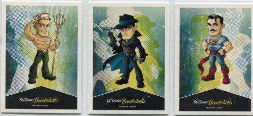 DC Comics Bombshells Complete Men Chase Card Set N1-3