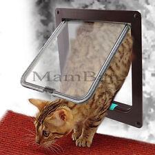 4 Way Magnetic Pet Cat Dog Supply Lock Lockable Safe Flap Door Gate Medium Small
