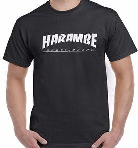 73b06a0bd RIP Harambe T-Shirt - Thrasher T-shirt Gorilla Cincinnati ...