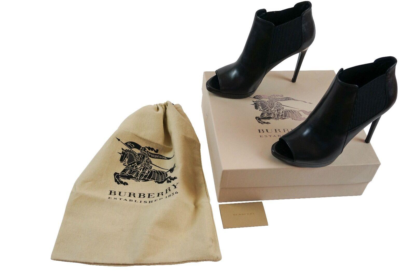 Genuine Burberry leather pip-toe ankle Stiefel Größe Größe Größe 39.5_new 83aabe
