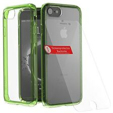 Luxurious Apple iPhone 7 Sport Active Neon Lime Case + Glass Screen Protector