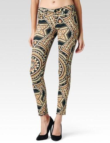 Paige Verdugo Ultra Skinny Amber Crown Jewels Print Jeans Size 29 NWOT