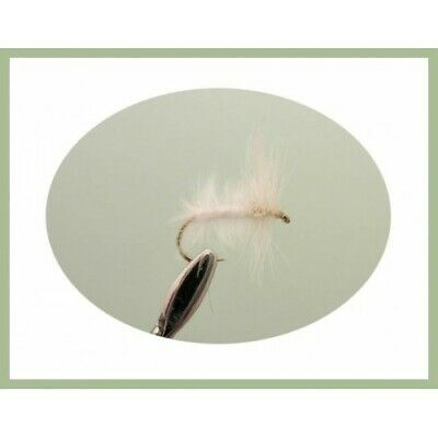 12 Pack White Moth /& Caenis Mixed 12//14//16 Fishing flies Dry Trout Flies