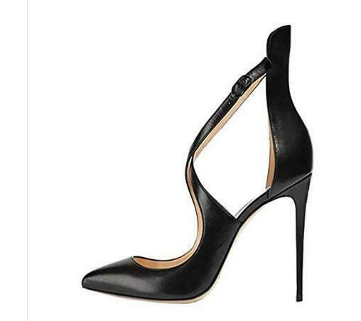 New Womens High High High Heel shoes Pointy Toe Shiny Leather shoes Stilettos Strppy Sz 9fc735