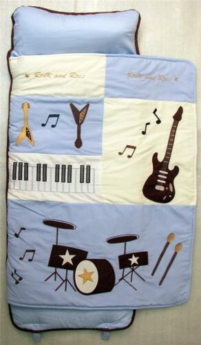 SoHo Nap Mat Blue Rock Band All Hand Embroidery