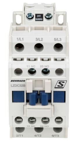 230VAC 24VDC Contactor SCHRACK Cubico Classic AC3 5.5kW//12A 400V,1NO+1NC 24VAC