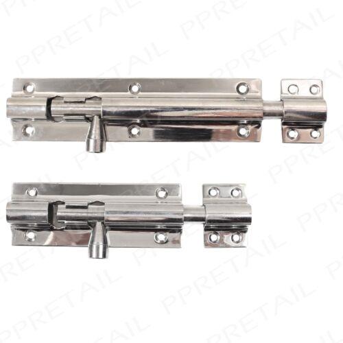 Door Dead Lock Catch Barrel 100MM /& 150MM Heavy Duty Chrome Plated Slide Bolt