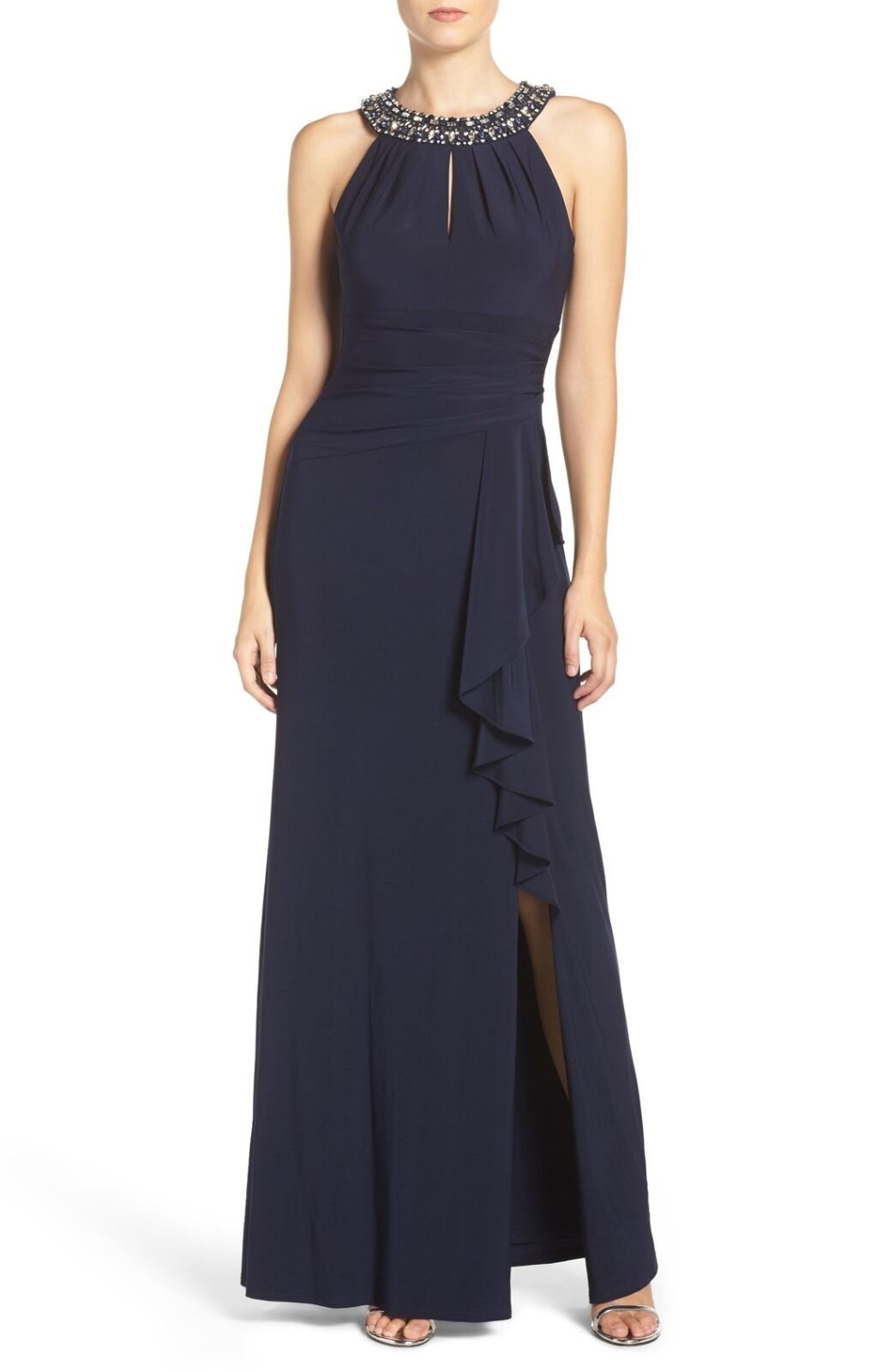 c1b55bf1e69 CAMUTO EMBELLISHED STRETCH NAVY sz 10 GOWN VINCE nckigh139-Kleider ...