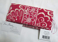 Vera Bradley Twirly Birds Pink Gallery Wallet Clutch Trifold For Tote Purse