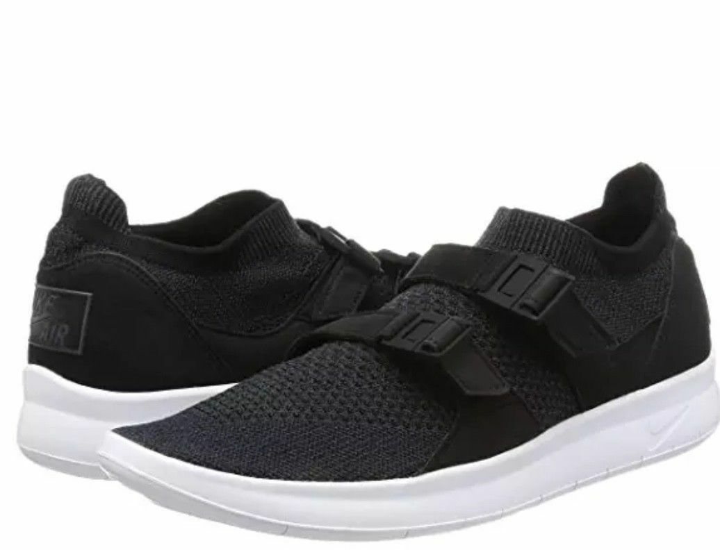NIKE AIR SOCK RACER FLYKNIT BLACK ANTHRACITE WHITE 898022 001 Comfortable