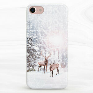 Winter Deer Forest Nature Animal Case For iPhone 6S 7 8 Xs XR 11 Pro Plus Max