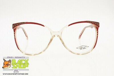 Ragionevole Regines Mod. Rouge Vintage Women's Round Eyeglass Frame, Hand Made Italy Laether