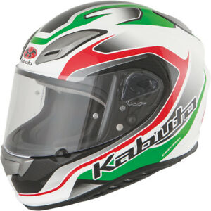 Kabuto-Aeroblade-III-Torrent-Full-Face-Motorcycle-Helmet-White-Green-Red