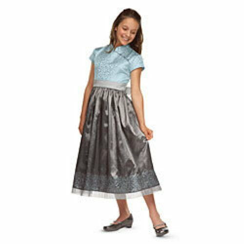 NWT AMERICAN GIRL SILVER BELLE DRESS CHINESE NEW YEAR BLUE//GRAY BROCADE 6 7 10