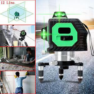 12-Linea-Verde-Livella-Laser-Misuratore-Orizz-amp-Vert-Autolivellante-Measuring-Tool
