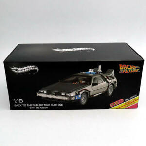 1-18-Hot-Wheels-Elite-Back-To-The-Future-Time-Machine-Diecast-Edition-BCJ97