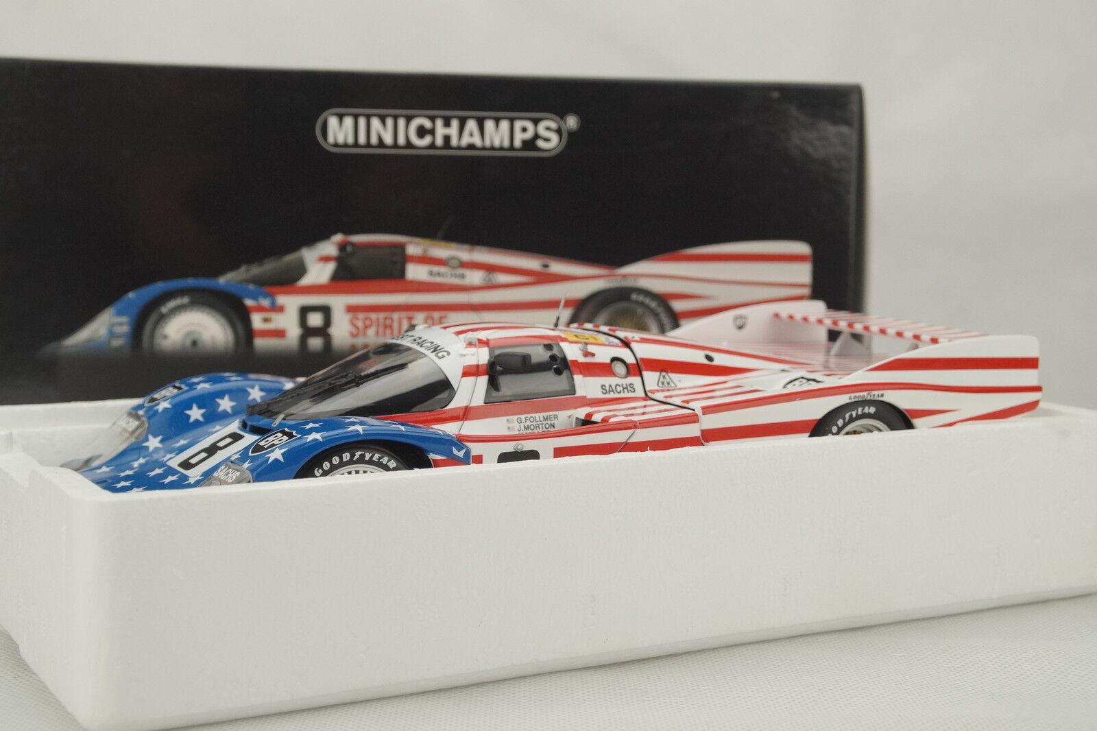 1 18 Minichamps-Porsche 956l le mans 1986 Follmer Morton Miller-rareza