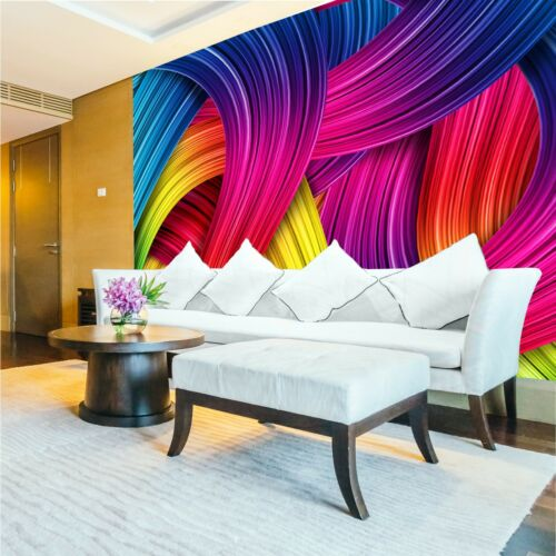 3D Wallpaper abstract colorful Wall Mural Photo blocks AUTISM ASPERGES SENSORY