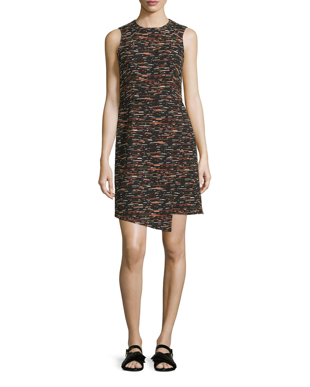GREY Jason Wu Sleeveless Tweed Tweed Tweed Dress w  Asymmetric Hem size 6 ab05b9