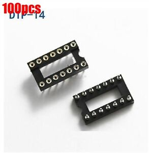 10pcs 14Pin DIP SIP Round IC Sockets Adaptor Solder Type gold plated machined