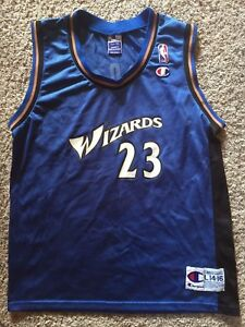 detailed look eaa57 cbf97 Details about Youth Large (14-16) VTG Boys Champion Washington Wizards  Michael Jordan Jersey