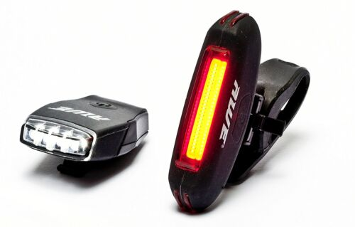 AWE® MicroBlaze Rechargeable Bike Silicone 4 LED/'s Front /& Silicone 25 Micro USB