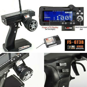 Flysky-FS-GT3B-2-4G-3CH-Transmitter-Receiver-Radio-Control-for-RC-Car-Boat-NEW