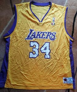 RARE Vintage Champion Los Angeles Lakers Shaquille O Neal 44 jersey ... b14836adc