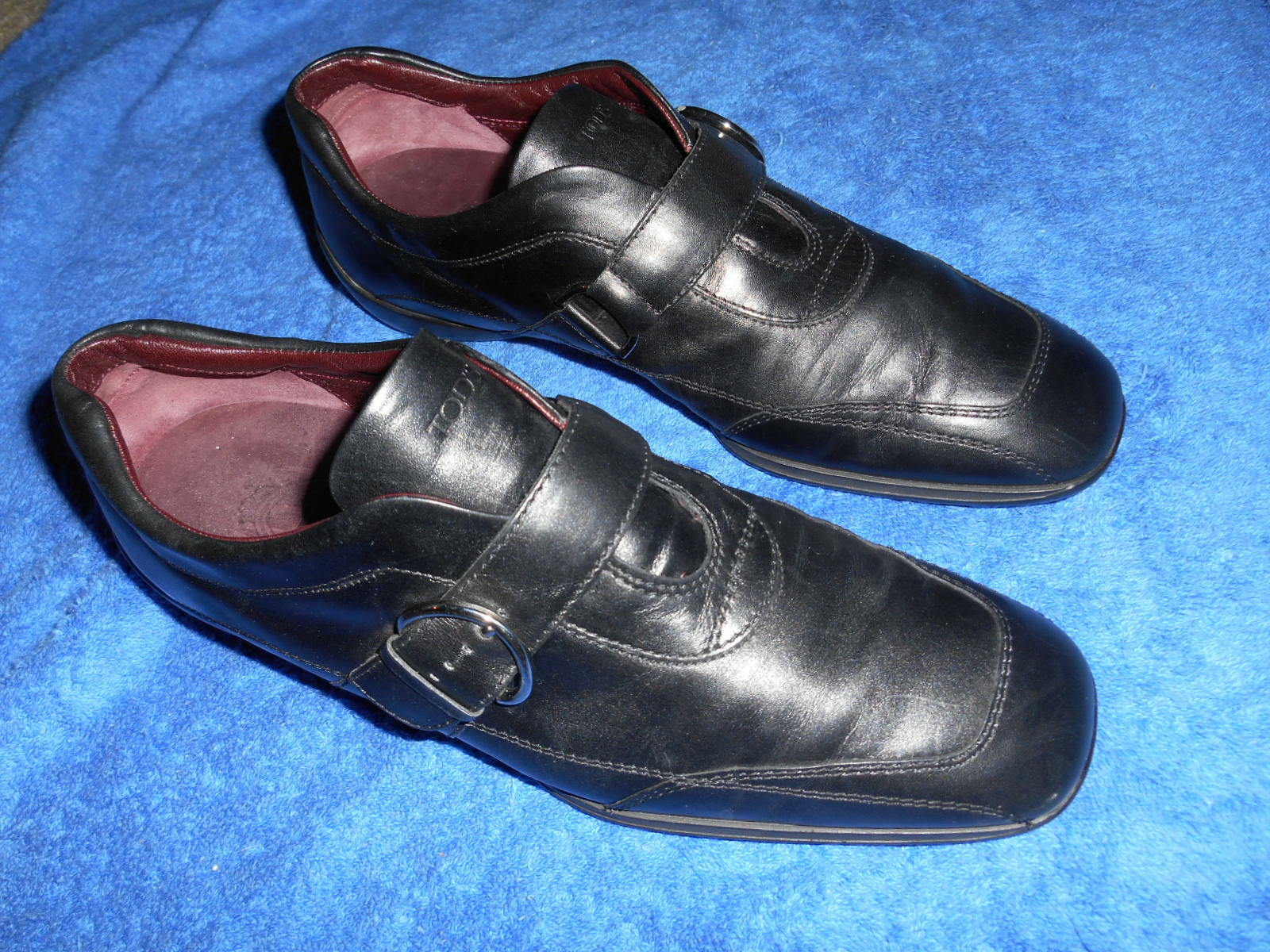 TOD'S CASUAL B SNEAKER DRIVING SHOES MONK BUCKLE SIZE 9 B CASUAL  NICE FROM ITALY.! adde27