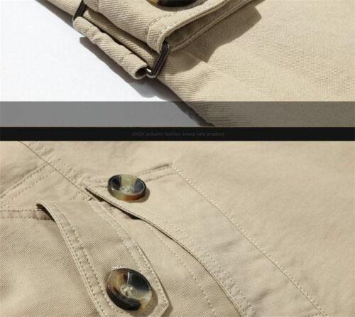 Men/'s New Slim Cotton Stylish Trench Coat Winter Mid-long Jacket Casual Overcoat