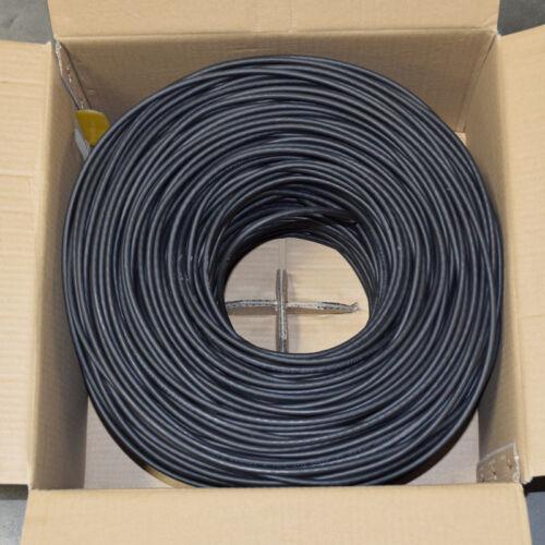 Bulk 1000ft Cat6 Plenum CMP 550 Mhz UTP Ethernet LAN Cable LSZH NEW Black
