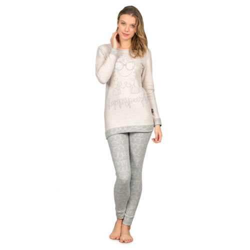 People Pyjamas Maxi Happy Gomitolo Femmes Leggings R937 en Jersey 3901 Milano Punto OSnSf
