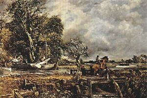Fine-Art-Quality-Postcard-The-Leaping-Horse-c1825-by-John-Constable-AR5