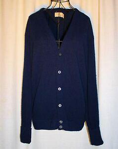 deb4f7cc38 Vintage The Fox Collection Dark Blue Cardigan Button Up Sweater Sz ...