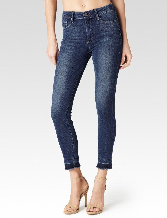 NWT PAIGE Sz28 HOXTON ANKLE SKINNY HIGH RISE STRETCH JEANS ROE blueE WASH