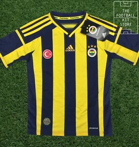 Fenerbahce-Home-Shirt-adidas-Turkish-Football-Jersey-Boys-All-Sizes