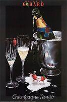 Michael Godard-champagne Tango Cristal-strawberry-las Vegas-party-poster